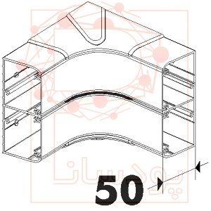 زاویه داخلی ترانک لگراند 105×50 با درب 65 و پارت نامبر 010605
